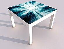 Design - Tisch mit UV Druck 55x55cm 3D Effekt Tür