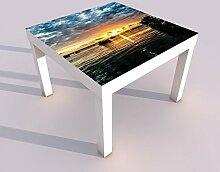 Design - Tisch mit UV Druck 55x55cm bewölkter