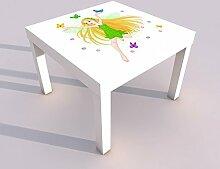 Design - Tisch mit UV Druck 55x55cm Fee