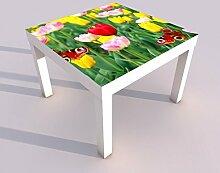 Design - Tisch mit UV Druck 55x55cm Frühling