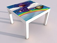 Design - Tisch mit UV Druck 55x55cm Hexe