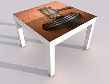 Design - Tisch mit UV Druck 55x55cm Holzhammer