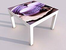 Design - Tisch mit UV Druck 55x55cm Keks Kekse
