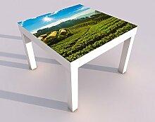 Design - Tisch mit UV Druck 55x55cm Landschaft