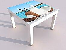 Design - Tisch mit UV Druck 55x55cm Meer Urlaub