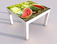 Design - Tisch mit UV Druck 55x55cm Obst Melone