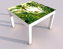 Design - Tisch mit UV Druck 55x55cm Palmen Palme