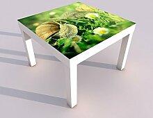 Design - Tisch mit UV Druck 55x55cm Schlüssel zum