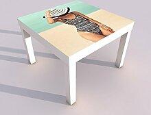 Design - Tisch mit UV Druck 55x55cm Sexy Frau