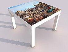 Design - Tisch mit UV Druck 55x55cm Skyline