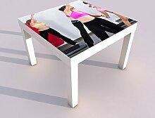 Design - Tisch mit UV Druck 55x55cm Sport Tanzen