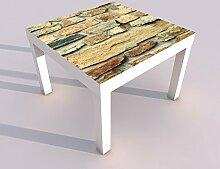 Design - Tisch mit UV Druck 55x55cm Steine