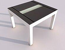Design - Tisch mit UV Druck 55x55cm Tür Muster