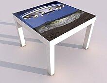 Design - Tisch mit UV Druck 55x55cm UFO Raumschiff