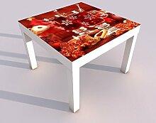 Design - Tisch mit UV Druck 55x55cm Weihnachten
