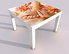 Design - Tisch mit UV Druck 55x55cm Wellness