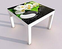 Design - Tisch mit UV Druck 55x55cm Wellness Yin Yang Orchidee Feng Shui Spieltisch Lack Tische Bild Bilder Kinderzimmer Möbel 18A443, Tisch 1:55x55cm
