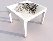Design - Tisch mit UV Druck 55x55cm Zeitungen