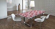 Design-Tisch / Schreibtisch / hochwertige Tischplatte / Esstisch / Arbeitstisch / Bürotisch / Pflanzenmuster / DIY / in zwei Größen erhältlich / ab 149 Euro / Über 50% Aktionsrabatt (Mit Tischuntergestell Edelstahl, 180x90 cm)