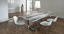 Design-Tisch / Schreibtisch / hochwertige Tischplatte / Esstisch / Arbeitstisch / Bürotisch / Holzoptik / DIY / in zwei Größen erhältlich / ab 149 Euro / Über 50% Aktionsrabatt (Mit Tischuntergestell Edelstahloptik, 200x100 cm)