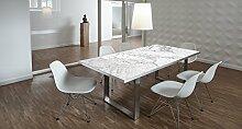 Design-Tisch / Schreibtisch / hochwertige Tischplatte / Esstisch / Arbeitstisch / Bürotisch / Marmoroptik / DIY / in zwei Größen erhältlich / ab 149 Euro / Über 50% Aktionsrabatt (Mit Tischuntergestell Edelstahl, 180x90 cm)