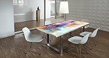 Design-Tisch / Schreibtisch / hochwertige Tischplatte / Esstisch / Arbeitstisch / Bürotisch / Abstrakt / DIY / in zwei Größen erhältlich / ab 149 Euro / Über 50% Aktionsrabatt (Mit Tischuntergestell Edelstahloptik, 200x100 cm)
