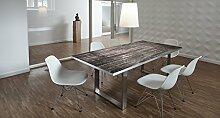Design-Tisch / Schreibtisch / hochwertige Tischplatte / Esstisch / Arbeitstisch / Bürotisch / Holzoptik / Shabby Chic / DIY / in zwei Größen erhältlich / ab 149 Euro / Über 50% Aktionsrabatt (Mit Tischuntergestell Edelstahl, 180x90 cm)