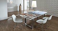 Design-Tisch / Schreibtisch / hochwertige Tischplatte / Esstisch / Arbeitstisch / Bürotisch / Berlin / DIY / in zwei Größen erhältlich / ab 149 Euro / Über 50% Aktionsrabatt (Mit Tischuntergestell Edelstahl, 180x90 cm)
