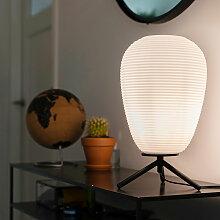 Design Tischlampe aus schwarzem Glas 24 cm mit
