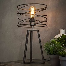 Design Tischlampe in Anthrazit spiralförmig