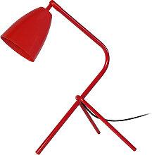 Design-Tischlampe Metall Rot FRIDAY