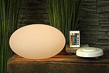 """Design Tischleuchte , mit Fernbedienung und Ladestation! Tischlampe, Nachttischlampe, Leuchten """"""""Arnusa Oasis Lights"""""""" (Pebble klein (27x16x27cm))"""