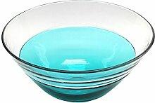 Design Toscano Abey 48 cm, Mundgeblasene Glasschale