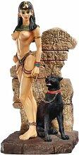 Design Toscano Ägyptische Göttin mit Panther, Figur