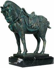 Design Toscano Altertümliches Tang-Pferd, Eisenfigur