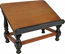 Design Toscano Antiquarische Buchstaffelei aus Holz