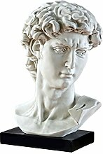 Design Toscano Büste von Michelangelos David,