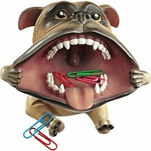 Design Toscano Bulldoge mit großem Maul, Figur: 2er-Se
