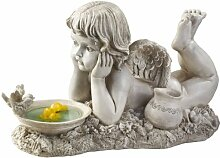 Design Toscano Cherub-Gartenfigur Summertime Reflections