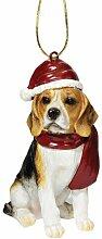 Design Toscano Christmas Ornaments, Weihnachten Beagle Ferienhundeornamente