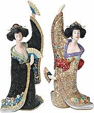 Design Toscano Die Asiatische Odoriko Geisha - Figurenkollektion: Bachiko und Aiko