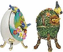 Design Toscano Eierset im Faberge-Stil Frühling