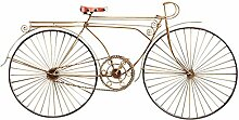 Design Toscano Figur Cycles Capelle Metal Bicycle Wall Sculpture, beige