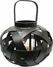 Design Toscano Figur Hakan 8 Inch Rattan Lantern, beige