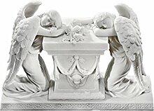 Design Toscano Figur Hartmann Angels: A Memorial to Lost Love Bonded Marble Resin Statue, beige