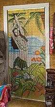 Design Toscano Figur Hawaiian Hula Wahine Tiki Bamboo Screen, beige