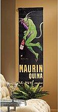 Design Toscano Figur Maurin Quina Devil Canvas Wall Hanging, beige