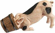 Design Toscano Figur Schweinchen mit Eimer