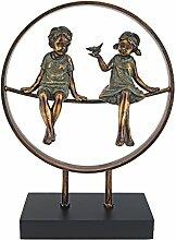 Design Toscano Figur Sundown Childhood Days Statue, beige