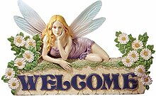 Design Toscano Figur The Welcome Fairy Wall Sculpture, beige